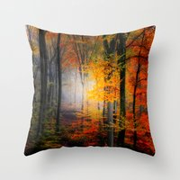 Light Colors Throw Pillow