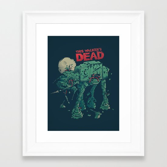 Walker's Dead Framed Art Print