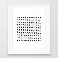 Scribble Dots Framed Art Print