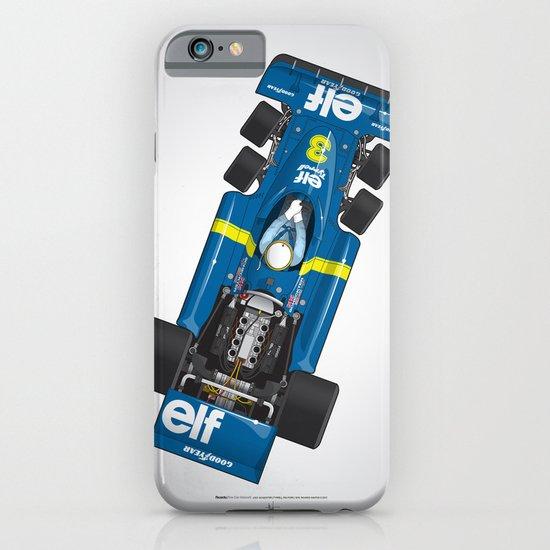 Outline Series N.º3, Jody Scheckter, Tyrrell-Ford 1976 iPhone & iPod Case