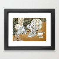Electromagnetic Question… Framed Art Print