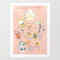 Trashy Birthday Party @ … Art Print