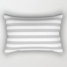 Horizontal Stripes (Silver/White) Rectangular Pillow