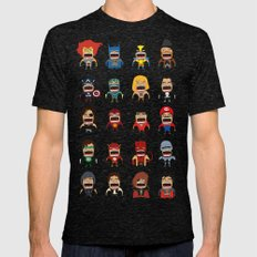 Screaming Heroes Mens Fitted Tee Tri-Black SMALL