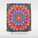 Lotus Rainbow Mandala Shower Curtain