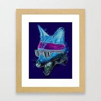 Foxy Hip Hop Framed Art Print