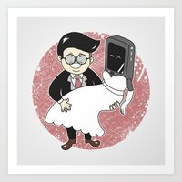 Geek In Love Art Print