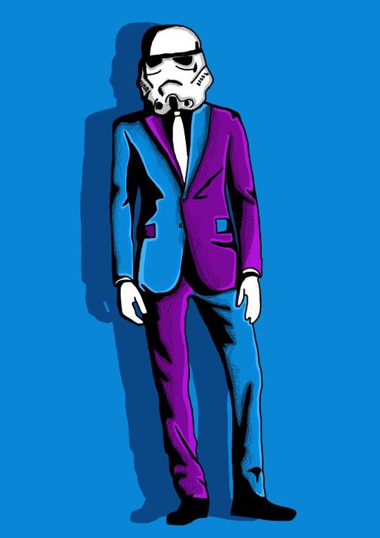Storm Suit Art Print