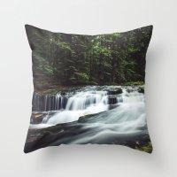 Szklarka creek Throw Pillow