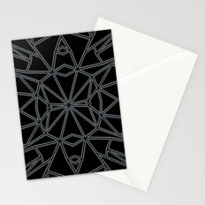 Ab Star Black and Grey Stationery Cards