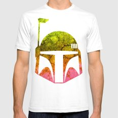 Star Wars  Colorful Boba Fett Mens Fitted Tee White SMALL