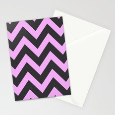 Pink & Charcoal Chevron Stationery Cards