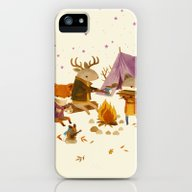 Critters: Fall Camping iPhone (5, 5s) Slim Case