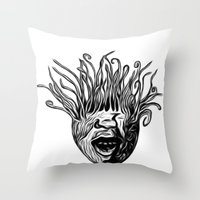 Tentaface Throw Pillow