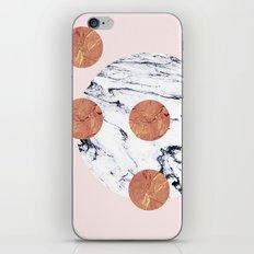 Marble + Pink + Copper #society6 #buyart #decor iPhone & iPod Skin