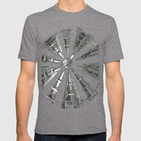Raw Power Mens Fitted Tee Tri-Grey SMALL