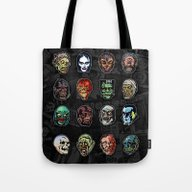 Horror Movie Monster Mas… Tote Bag