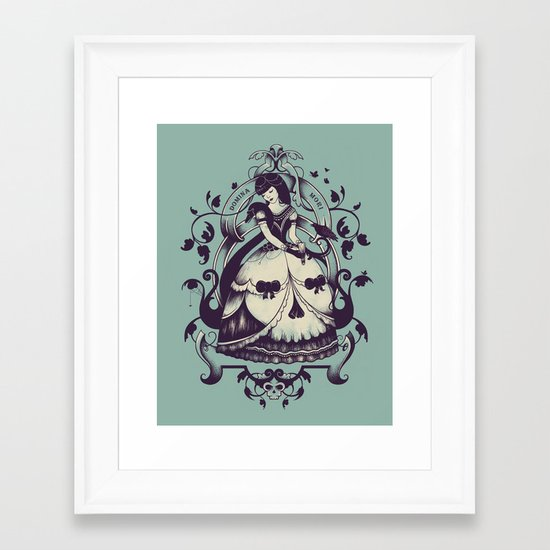 Mrs. Death Framed Art Print