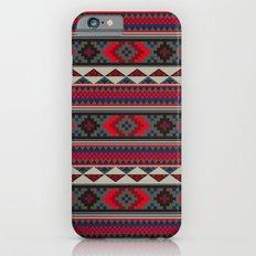 Navajo blanket pattern- red iPhone 6 Slim Case