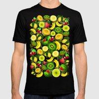 Summer Fruits Juicy Patt… Mens Fitted Tee Black SMALL