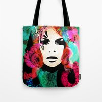 colorful hair Tote Bag