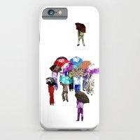 iPhone & iPod Case featuring Chinese Grandmas climbing Tai Tam Reservoir by KarenHarveyCox
