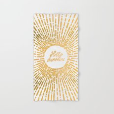 Hello Sunshine Gold Hand & Bath Towel