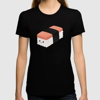 Spam Musubi Womens Fitted Tee Black SMALL