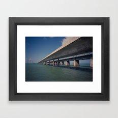 Seven Mile Bridge, Florida Keys Framed Art Print
