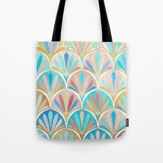 Vintage Twenties Art Deco Pastel Pattern Tote Bag