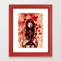 Depressed girl Framed Art Print
