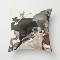 Internal Conflict Throw Pillow