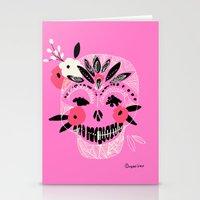 Tribal Boho Skull Stationery Cards