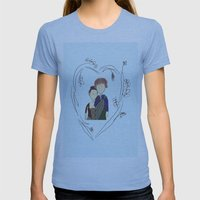 Outlander Womens Fitted Tee Athletic Blue SMALL