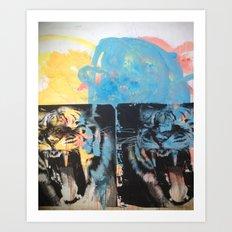 YAWNING TIGER Art Print