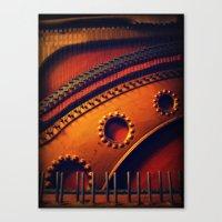 piano skeleton Canvas Print