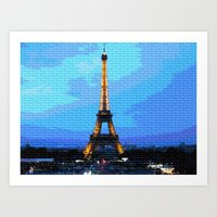 eiffel Art Prints featuring Eiffel by osile ignacio