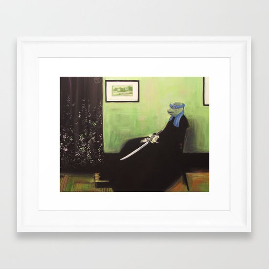 Whistler's Turtle Framed Art Print