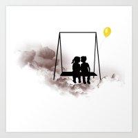 Dreaming Kids Art Print