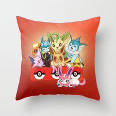 POKEMONS Eevelution Throw Pillow