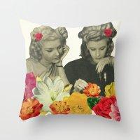 Flower Collectors Throw Pillow
