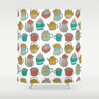Pattern Project #5 / Cat… Shower Curtain