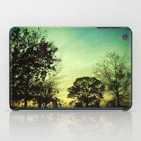Orange Green Blue Sky iPad Case