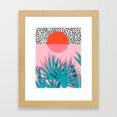 Whoa - Palm Sunrise Sout… Framed Art Print