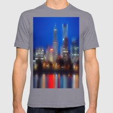 city of dreams SMALL Slate Mens Fitted Tee