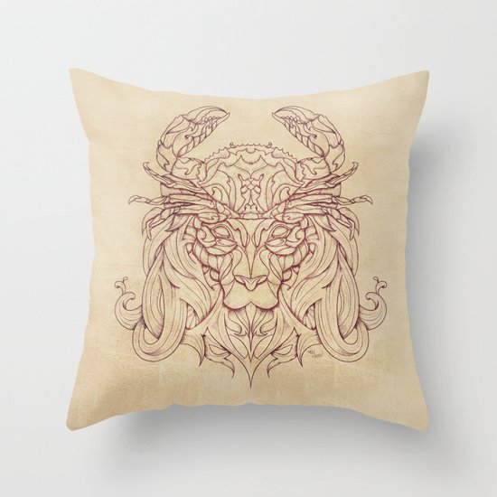 Lion Crab Throw Pillow