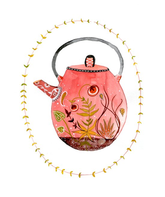 teapot terrarium Canvas Print
