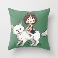Princess Mononoke II Throw Pillow