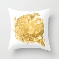 Gold Paint Throw Pillow