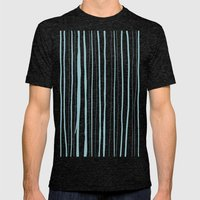 Vertical Living Salt Water Mens Fitted Tee Tri-Black SMALL